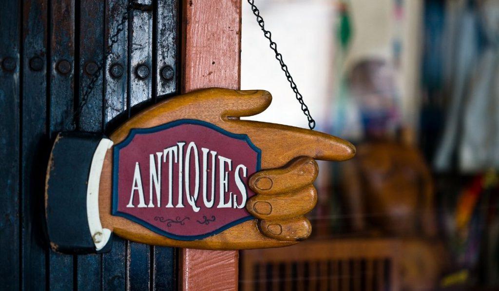 antique store tag