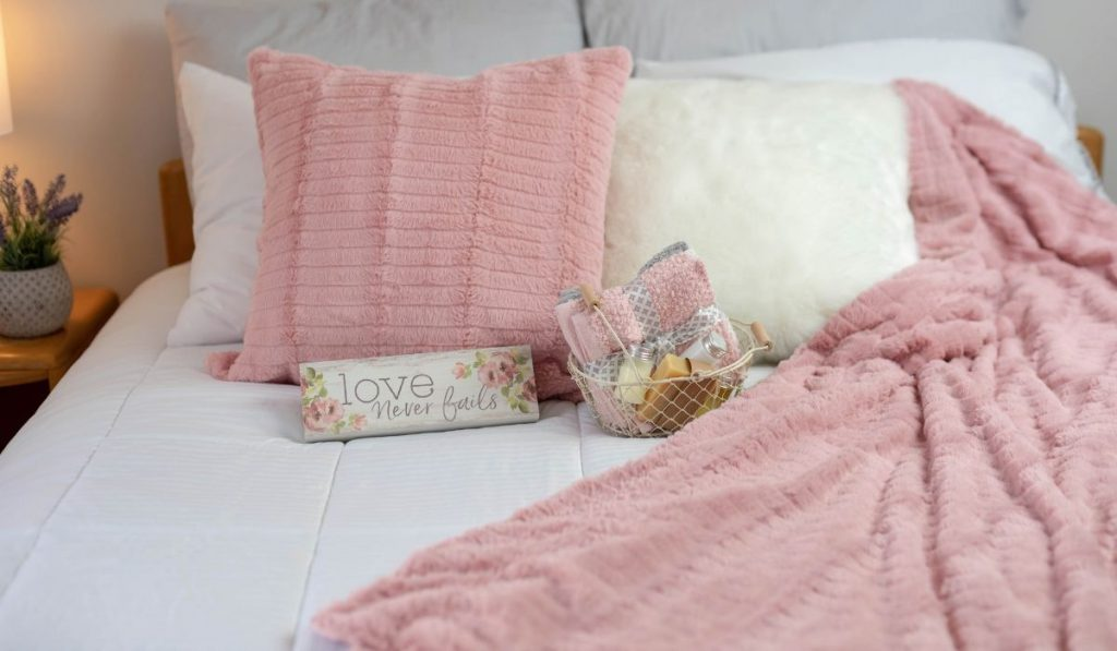 clean and pink blanket