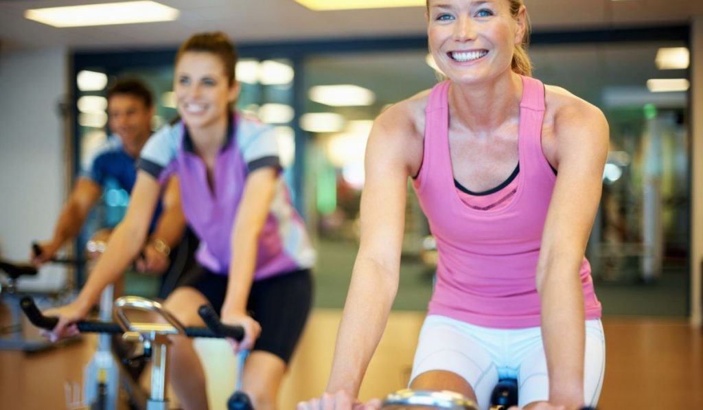 females using the stationary bike