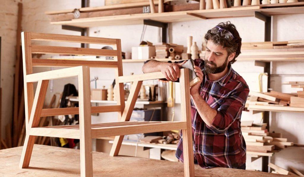 man making a chair