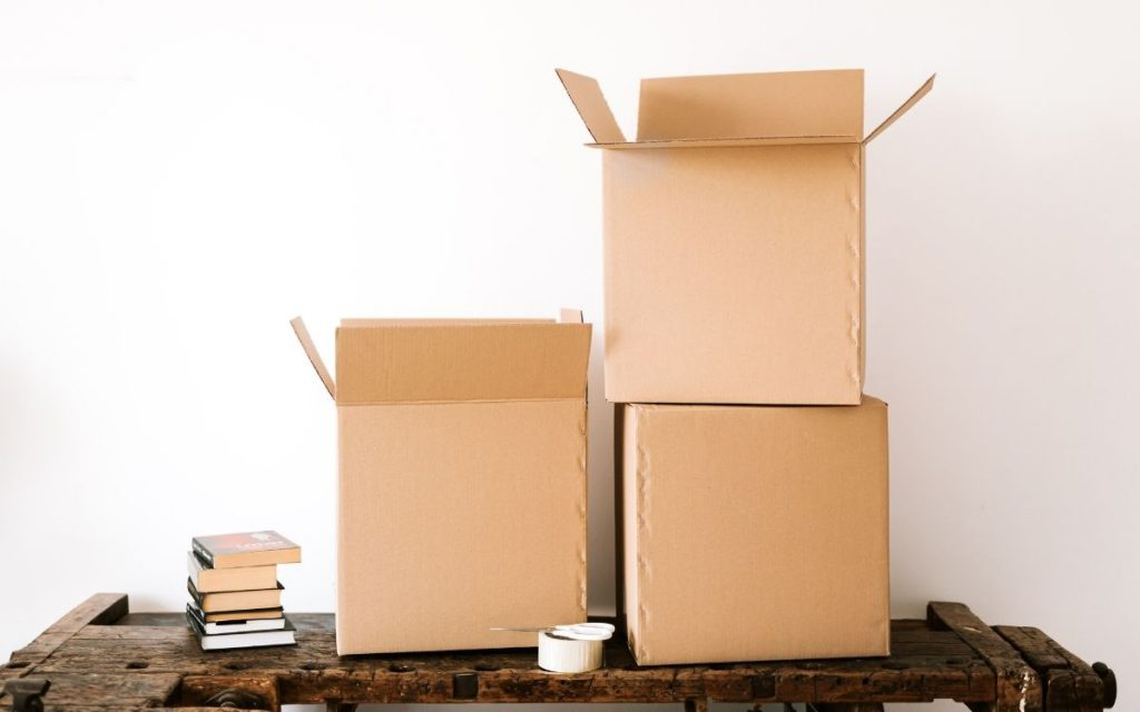 cardboard boxes moving supplies